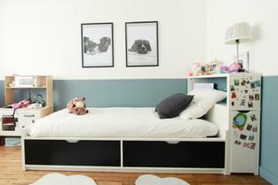 Décoration chambre enfant bleue