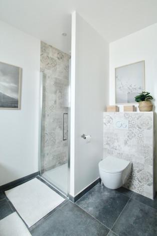 Salle de bain tons beige
