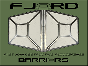 Fjord Defense Barriers and flood protect