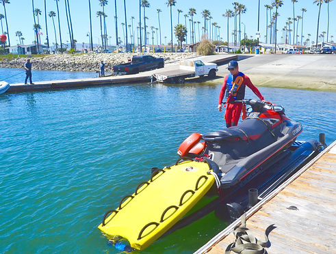 Water Safety Officer Evaluates Boat Floa