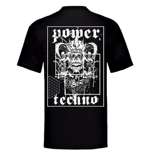 T-Shirt: Skull Power Techno - ReWasted Label Logo MEN