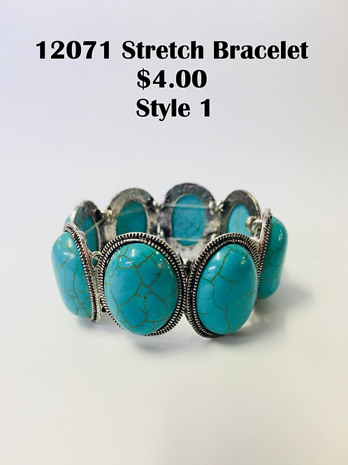 12071JL0616 Turquoise Bracelet $4.00 Each