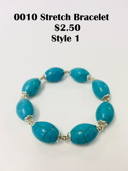0010JL0117 Turquoise Bracelet $2.50 Each