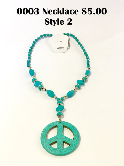 0003JL Turquoise Necklace $5.00