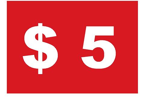 A3 Signage $3.00 each