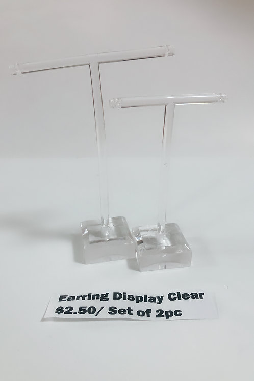 Earring Display Clear $2.50/ Set of 2 pcs