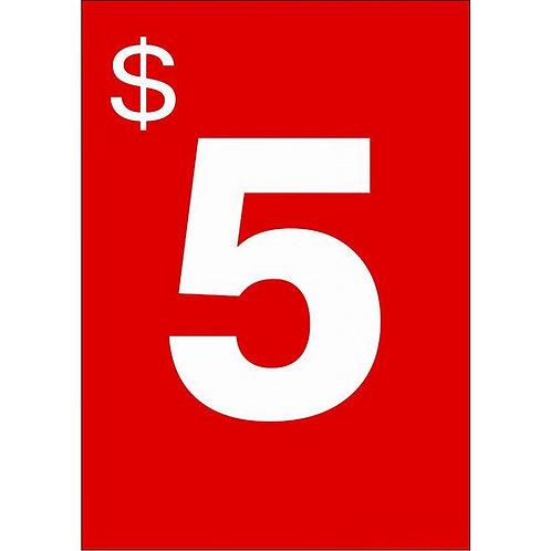 A4 Signage - $2.00 each (Portrait)
