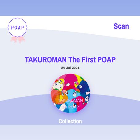 TAKUROMANは36FUJIプロジェクトへの参加記念として初のPOAPを発行しました🎉 (応募多数により終了)