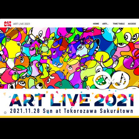 「ART LIVE 2021」のキービジュアルをTAKUROMANが担当させていただきました✨