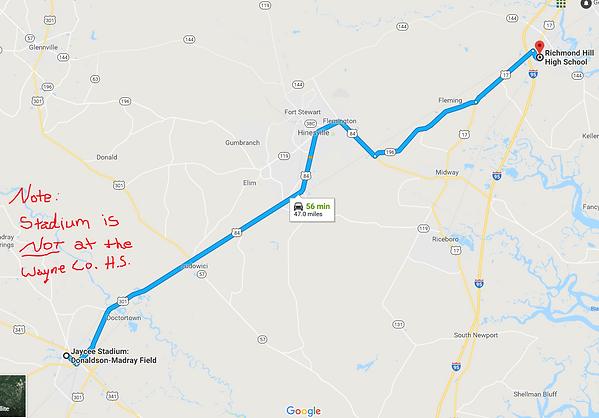 Map to Jaycee Stadium - Jesup GA.PNG