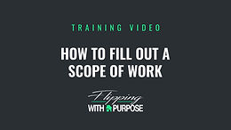 How to Fill Out a Scope of Work