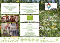 Folder Natur Leben Schule am Bauernhof