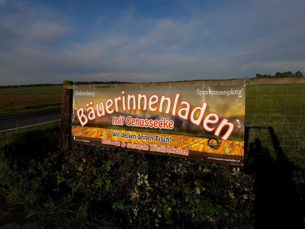 Banner Bäuerinnenladen