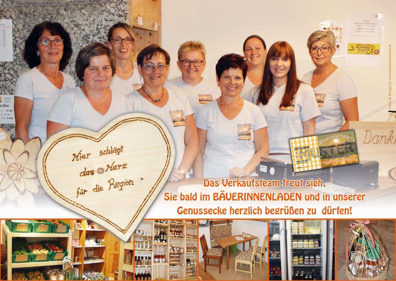 Folder Bäuerinnenladen innen