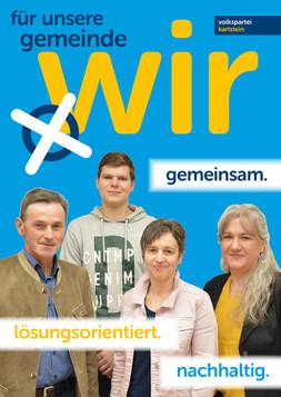 A1 Plakat Kandidaten Obergrünbach