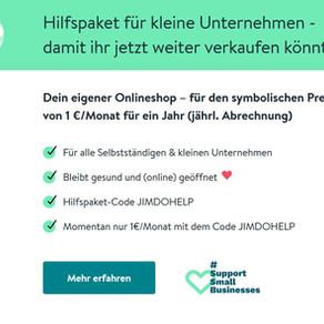 Jimdo Hilfspaket Onlineshop für Unternehmen