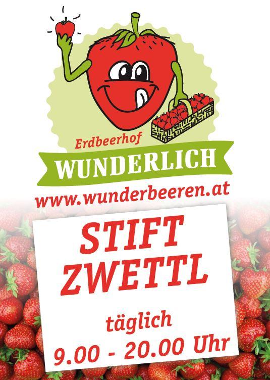 Erdbeerhof Wunderlich Tafel