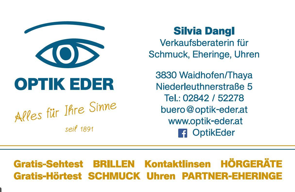 Visitenkarten Optik Eder Mitarbeiter