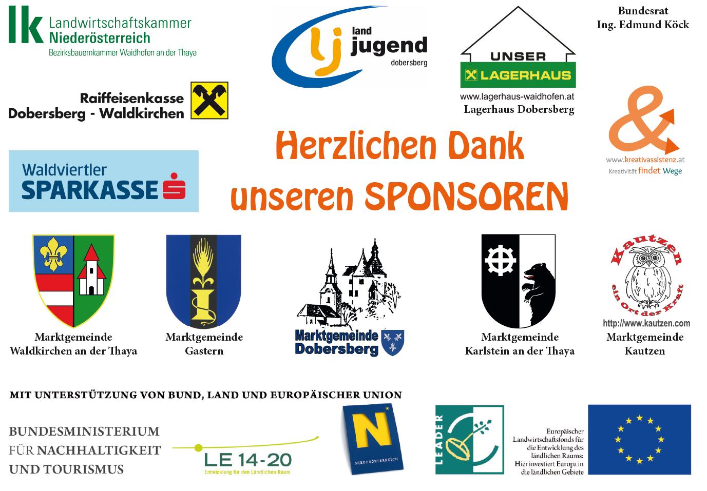 Sponsorenplakat Bäuerinnenladen