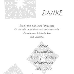 DANKE & *** Frohe Weihnachten ***