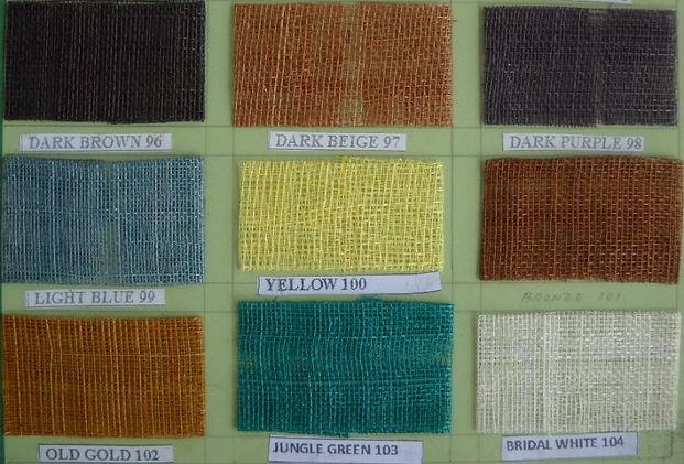 Sinamay Colors