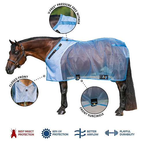 Mosquito Mesh® Fitted V-Free® Stable Fly Sheet