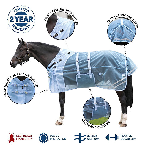 Mosquito Mesh® VTEK® Wither Relief Bellyband Fly Sheet