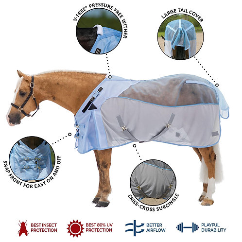 Mosquito Mesh® Fitted V-Free® Hybrid Fly Sheet