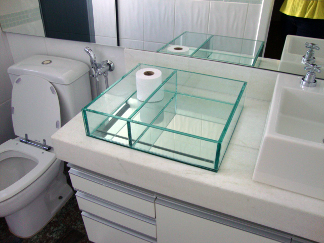 bandeja de vidro