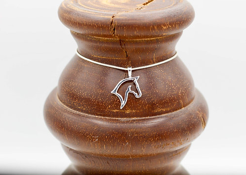 Silhouette Horse Necklace