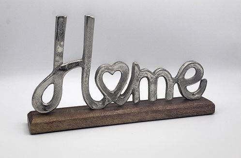 Rustic metal home sign