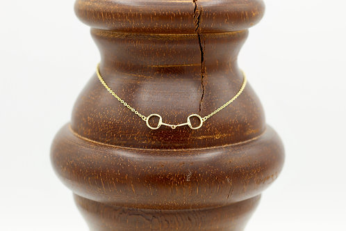 Snaffle bit necklace
