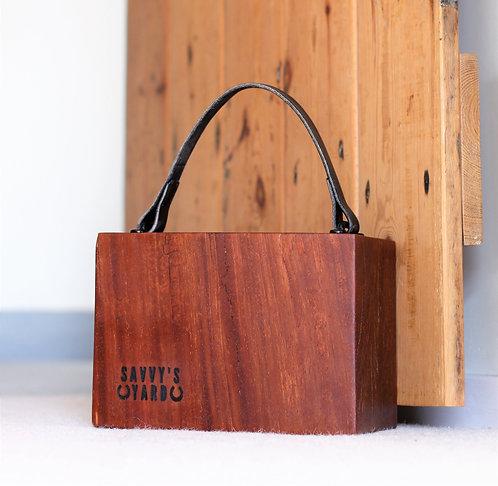 Chunky wooden block doorstop