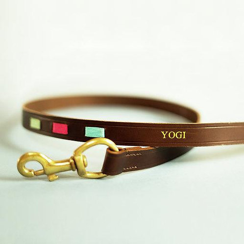 Polo Brown Leather Dog Lead