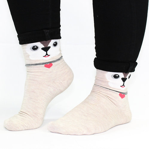 Puppy face socks