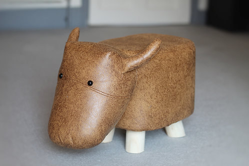 """Eric"" The Bull Footstool"
