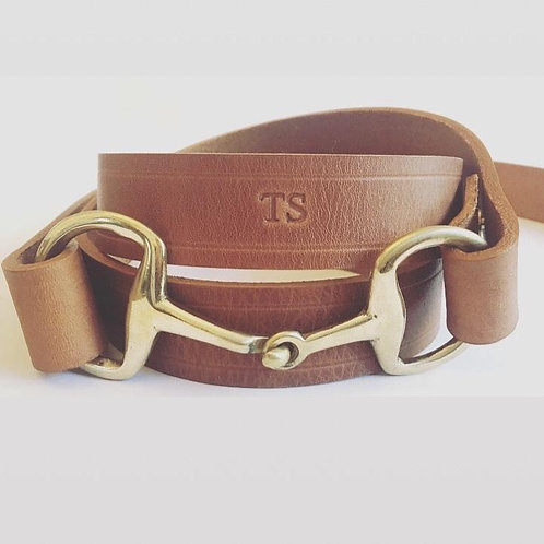 Leather Snaffle Clasp Belt