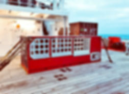 Extra Large V8 Motor Winch on Ship. - Co