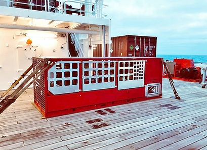 Extra Large V8 Motor Winch on Ship. - Co