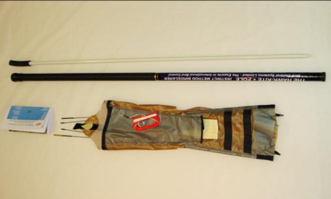 7 Metre Peregrine Pro Bird Scare Kite, glass fibre pole