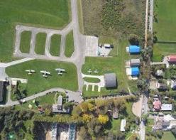 Airfield from above via flir camera of aerostat