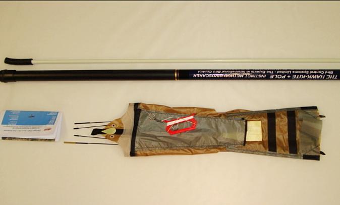 5 Metre Peregrine Pro Bird Scare Kite, glass fibre pole