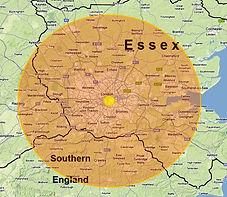 Coverage around London England