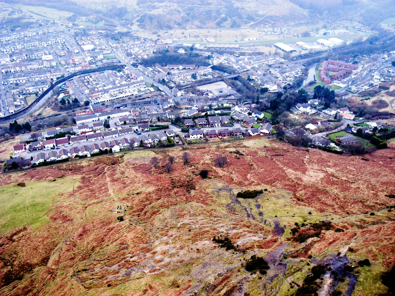 Welsh mountain and town by Nick Russill