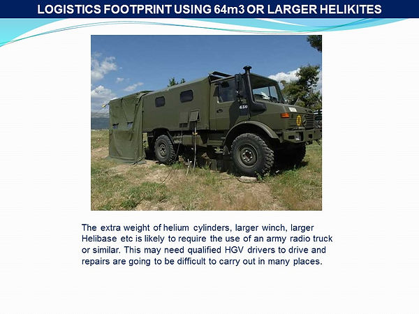large military helium truck