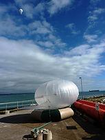 Shore based aerostat relaying to USV 20
