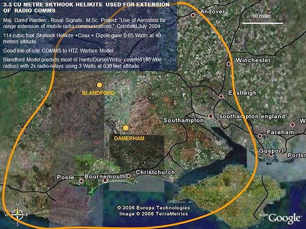 Map of coverage around White Sands Test Range