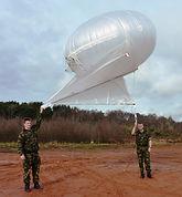 Royal Marines using aerostat