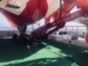 250m3 Desert Star Helikite on ship in At