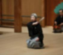 Image of Noh Performer Hisa Uzawa taken by Katherine Whatley